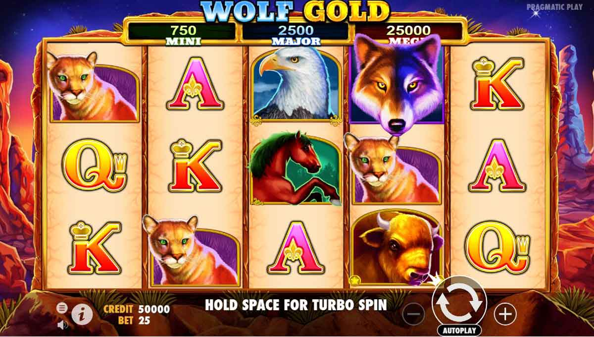 Wolf Gold Back